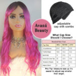 Ariel Synthetic Hair Wig Pink Avana Beauty Wig Chart