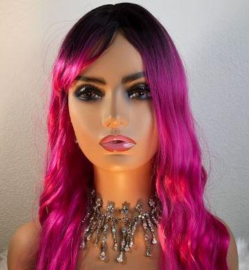 Ariel Synthetic Hair Wig Pink Avana Beauty