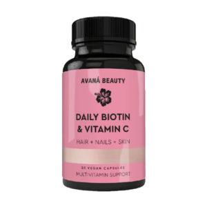 Daily Biotin Mult-Vitamin for Hair Skin Nails Hair Vitamin Avana Beauty