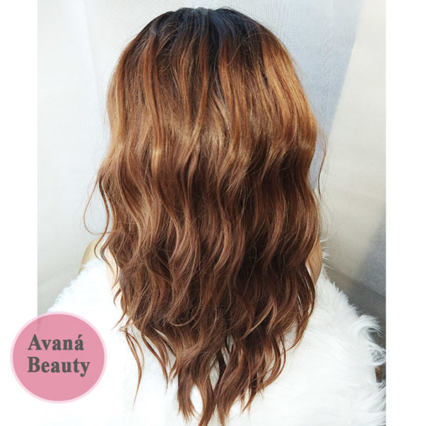Fifi Wig with Bangs Back View Avaná Beauty