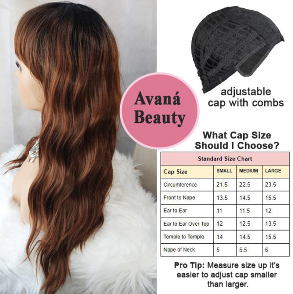 Fifi Wig with Bangs Side View Avaná Beauty